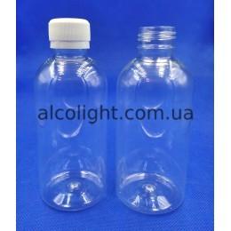 Бутылочка прозрачная пэт 250 мл с крышкой, ПГ, (код 5012)
