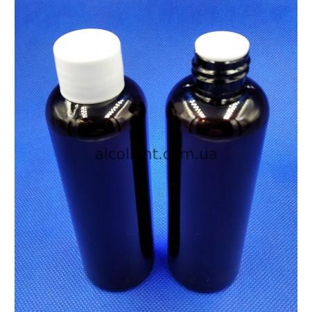 Бутылочка коричневая с пробкой и крышкой 150 мл, глор, (код 4014)