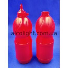 Бутылка 1 литр для соуса, кетчупа, майонеза, клея, АС, (код 1401)
