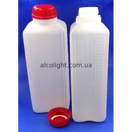 Бутылка 2 литра с крышкой и шкалой, СТ, (код 1402)