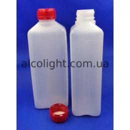 Бутылка с крышкой и шкалой 1 литр, СТ, (код 1407)