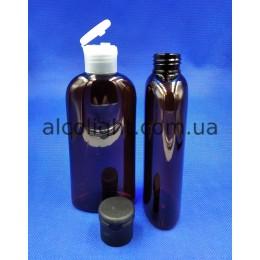 Бутылочки коричневые флип-топ 200 мл, ПГ, рим , (код 1505)