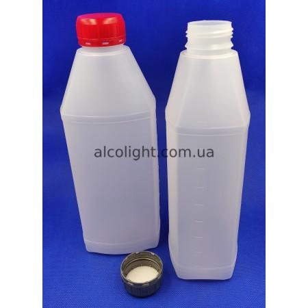 Бутылка со шкалой 1 литр и колпачком, СТ, (код 1408)