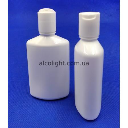 Бутылочки белые косметические 100 мл, диск-топ колпачок, (код 1804)