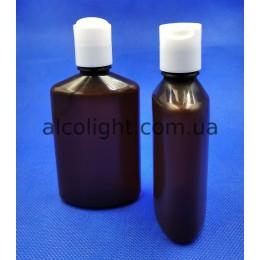 Бутылочки коричневые косметические 100 мл, диск-топ колпачок, (код 1807)